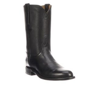 Lucchese Black Leather Bannock boot